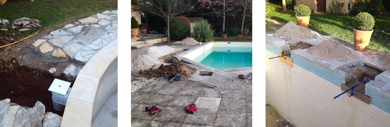 Rénovation piscines : fuite piscine