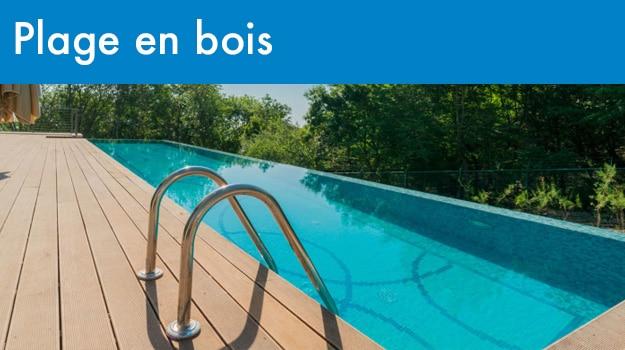 Rénovation piscine : plage en bois